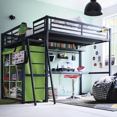 les 25 meilleures id es concernant lit mezzanine 140 sur. Black Bedroom Furniture Sets. Home Design Ideas