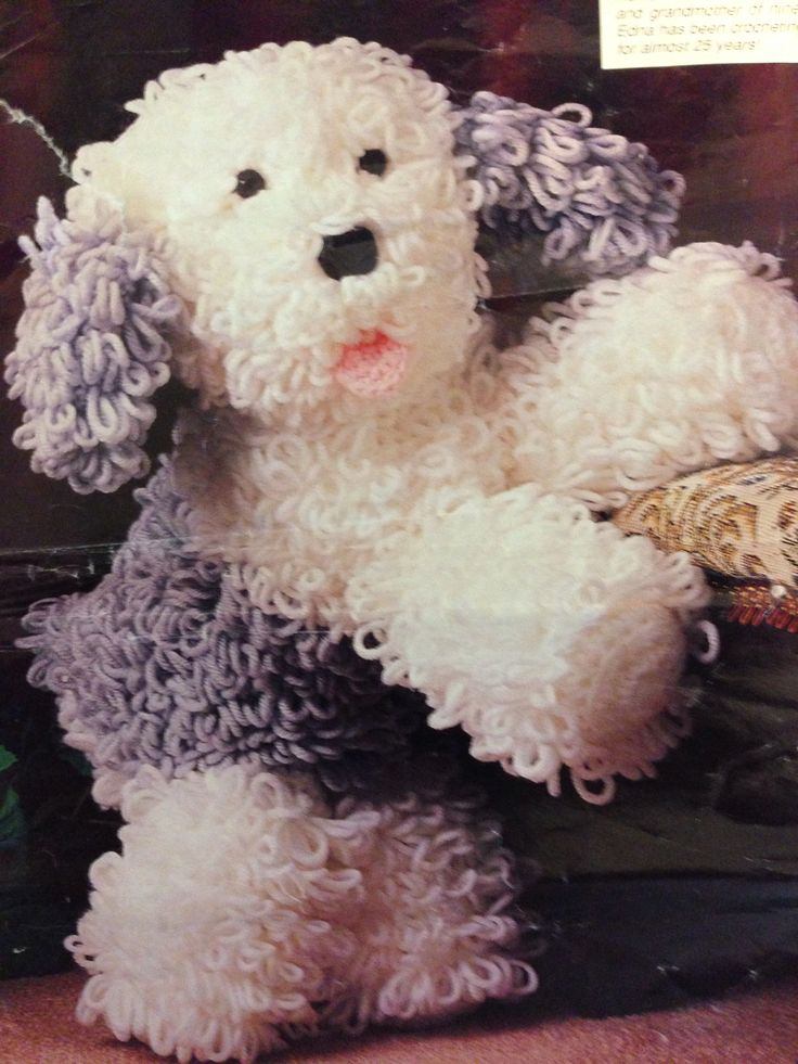 From Annies crochet newsletter Nov-Dec.,1991 English Sheepdog gift ...