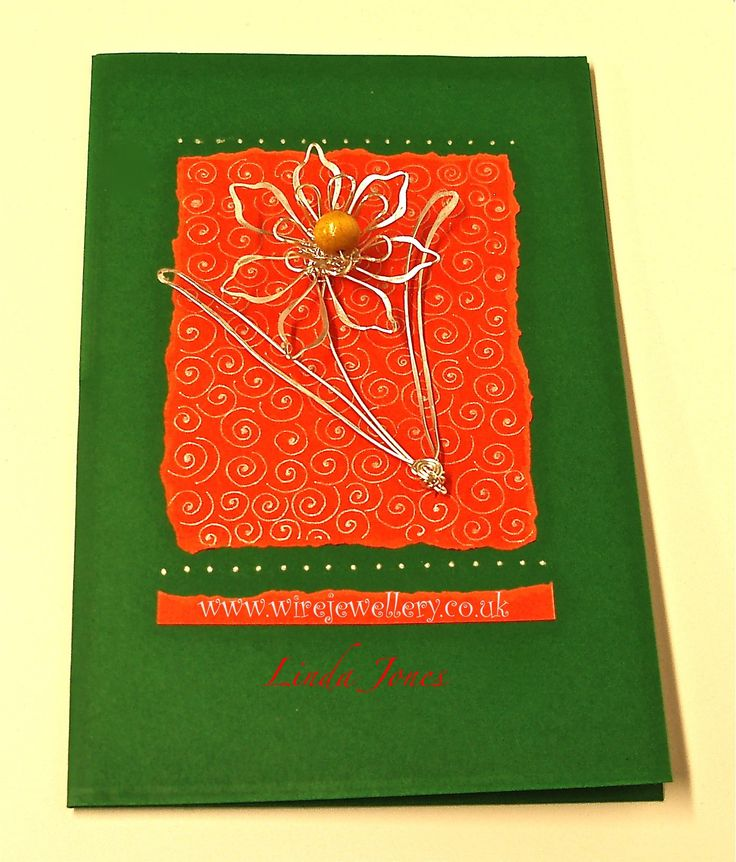Wire & Beaded Card