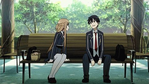 Kirito e Asuna ❤❤ Tão fofos