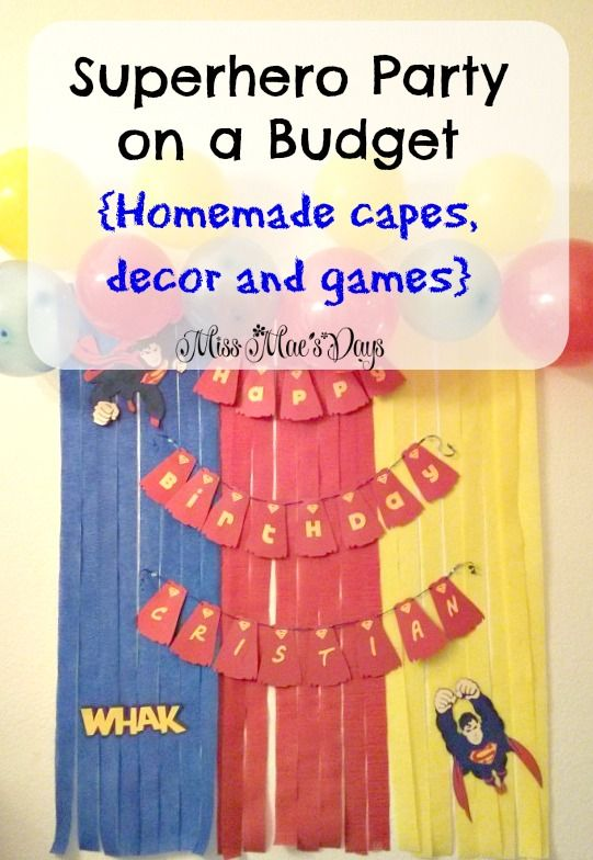 Create an awesome Superman party on a budget! Homemade games and dollar store decor!