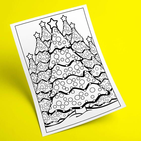 Christmas Coloring Page Holiday Activity Winter Pages Printable Adul