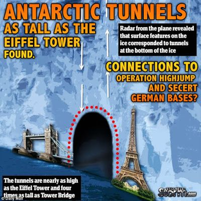 Antarctic Tunnels as Tall as the Eiffel Tower Found   Connections to Operation Highjump and Secret German Bases?   Stillness in the Storm