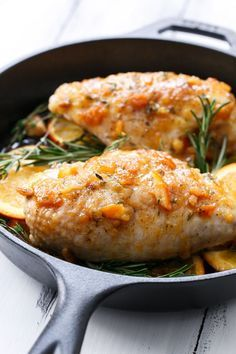 Orange Marmalade Skillet Roasted Chicken Breasts from /loveandoliveoil/