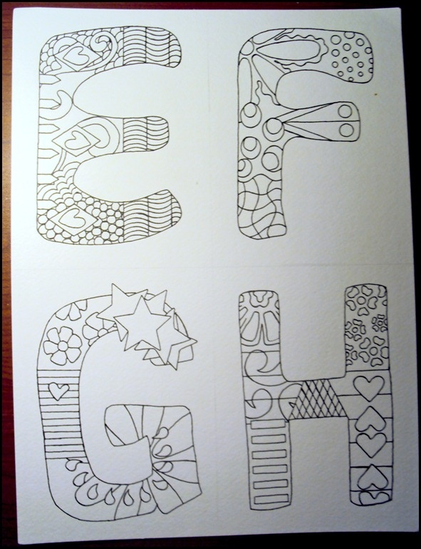 Draw.Doodle.Decorate - .Draw.Doodle.Decorate - Alphabet Doodles
