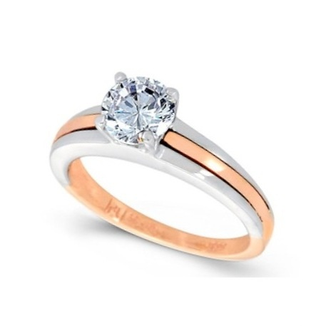 White and pink gold k14  Diamond