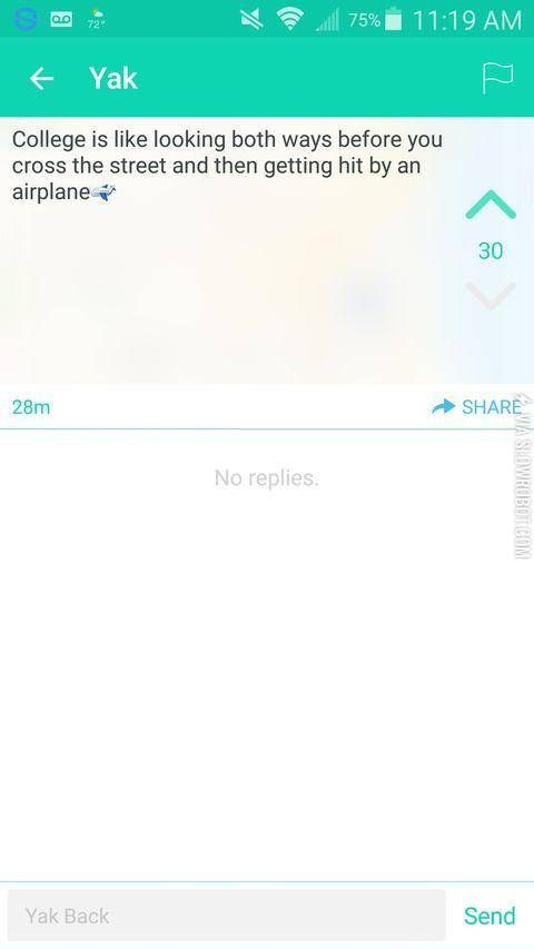 Best Yik Yak Images On Pinterest Funny Things College Life - 21 life changing pieces of wisdom courtesy of yik yak