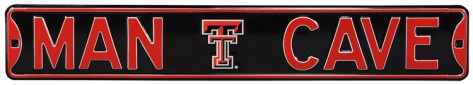 Man Cave Texas Tech Steel Sign Wall sign at AllPosters.com