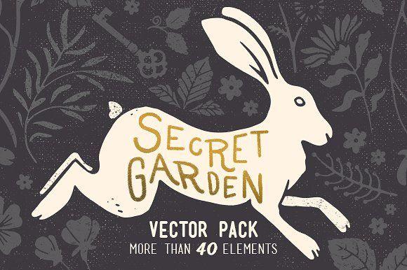 Secret Garden Vintage Vector Pack by Annie Sauvage on @creativemarket