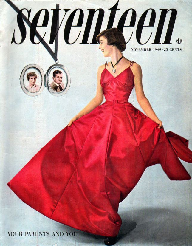 Seventeen Magazine - November 1949, one day i want to work there, write, edit, fashion department,, you know it. i'd work for seventeen old and new <3