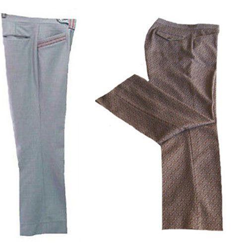 Vintage 1970s Pant Lot Textured 2 Pants Farah Disco Golf 32W