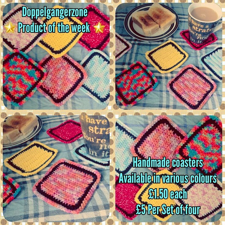 #Doppelgangerzone #Product of the week #handmade #coasters #teatime☕️