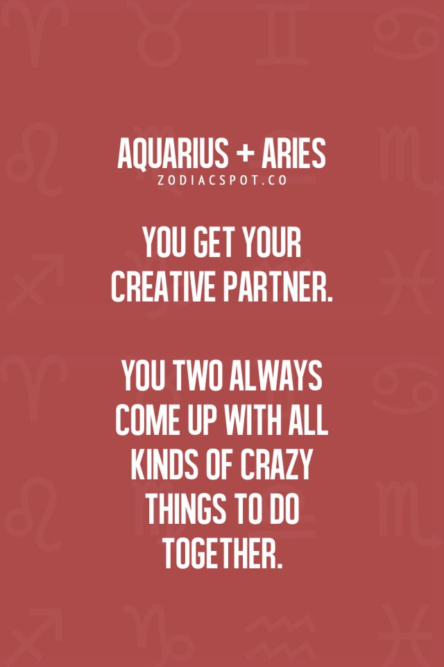 Why Aquarius and Aries are Attracted to Each Other