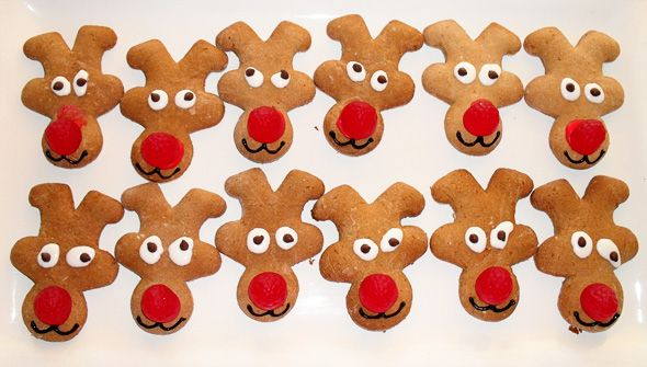 Cute and easy reindeer cookies using a gingerbread man cookie cutter: Reindeer Cookies, Food, Men'S, Holidays, Gingerbread Cookies, Cookies Cutters, Gingerbread Man, Christmas Ideas, Gingerbread But