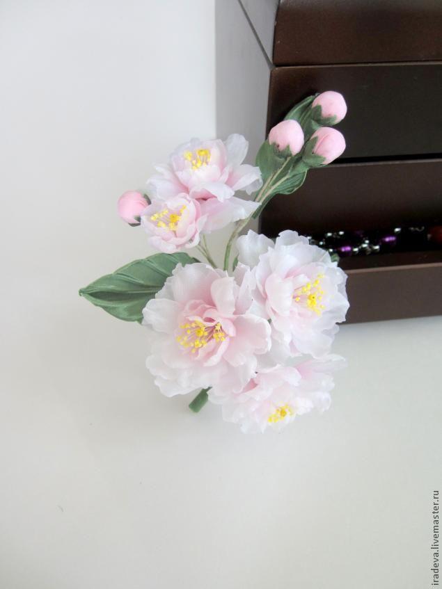 По красоте и изяществу, на которых основаны эстетические принципы нашей культуры, с ним не может сравниться никакой другой цветок в мире Инадзо Нитобе «Путь самурая» Представляю вашему вниманию мастер-класс по созданию веточки сакуры из шелка. Выкройку я нашла на одном из форумов, где общаются мастера и любители шелковой флористики.