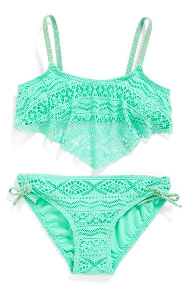 Gossip Girl 'Little Wild One' Two-Piece Swimsuit (Big Girls) available at #Nordstrom