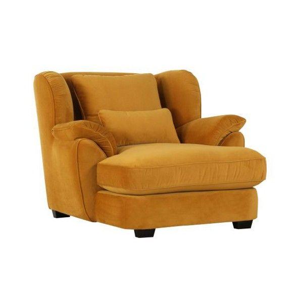 big sessel in gelb textil polsterm bel polsterm bel. Black Bedroom Furniture Sets. Home Design Ideas