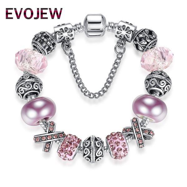 AKCE - Elegantní náramek Violet | Náramky styl pandora | Šperky za Super ceny přímo od dodavatele - doprava zdarma