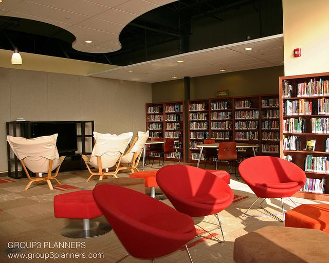 Teen Library by Group3 Planners, LLC, via Flickr  Cool Teen Space