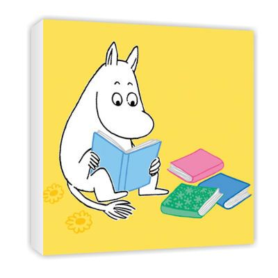 Moomin Reading Canvas by Tove Jansson   on StarEditions.com - Wholesale Prints and Gifts