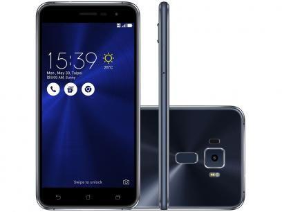 """Ainda Temos no Estoque  está imperdivél este aparelho :  Smartphone Asus ZenFone 3 32GB Preto Safira - Dual Chip 4G Câm. 16MP + Selfie 8MP Tela 5.2"""""""