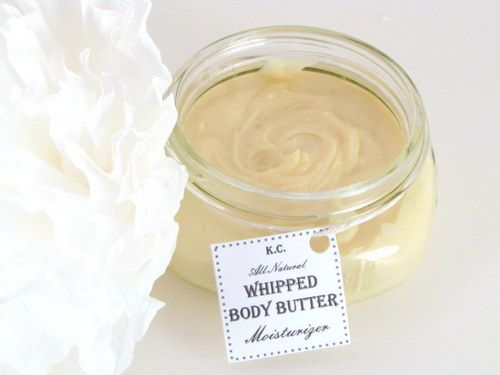 Honey Scented Homemade Whipped Body Butter. You'll need: 1 cup Shea butter, 1/2 cup Coconut oil, 4 tbs Beeswax grated, 1/2 cup Sweet Almond oil.