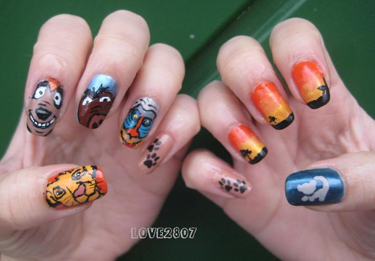 lion king nail art | miss.love2807: Nail Art Design: The Lion King