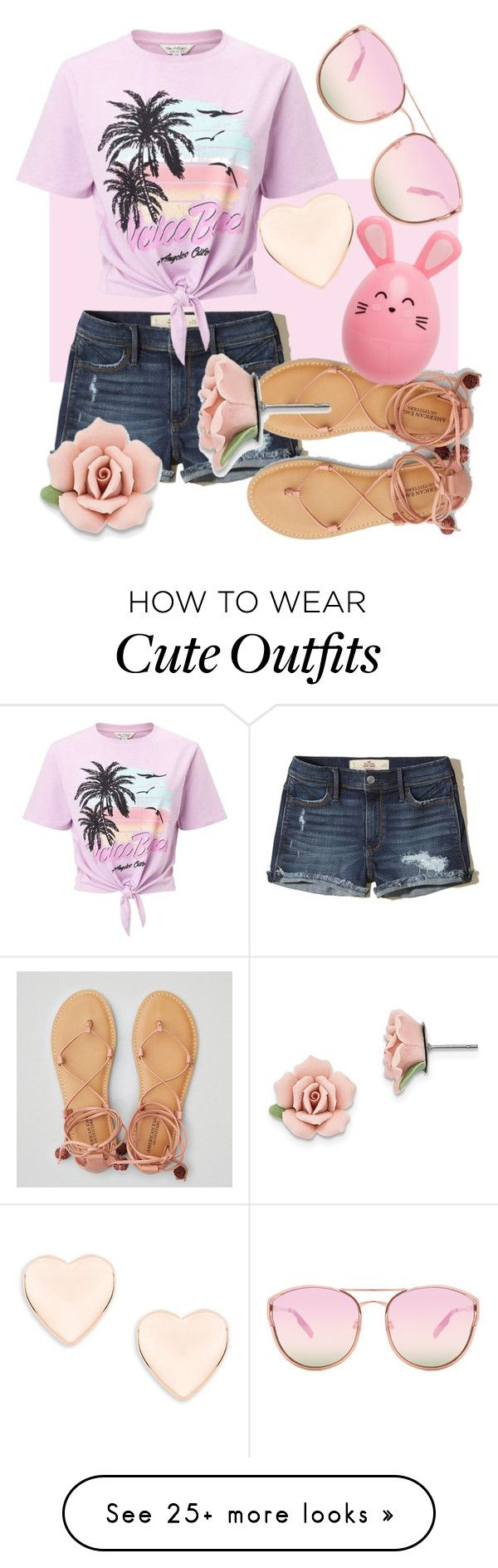 """I wish I had this cute outfit"" by theredstar on Polyvore featuring Hollister Co., Miss Selfridge, American Eagle Outfitters, Ted Baker, Quay and 1928"