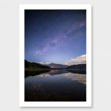 Lake Mapourika Photographic Print by Mike Mackinven