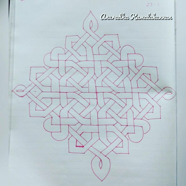 Glass Painting/Celtic Knot Rangolis/Floating Rangoli.. Colourful Stripes  Bound Together.