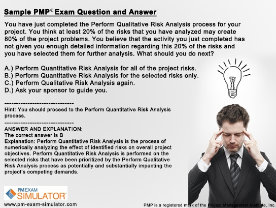 Best Free Pmp Sample Questions Images On   Project