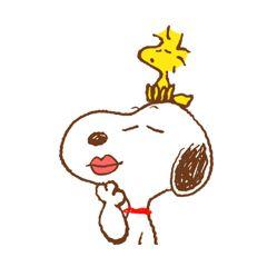 Snoopy y Woodstock son los mejores amigos♪ ¡Y ahora están juntos en stickers! Además, llegaron con los hermanos de Snoopy y más de sus amigos★ Tiernos y cómicos a morir, ¡no te los puedes perder!