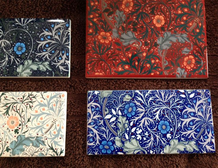William Morris Seaweed Tile   Arts and Crafts Tiles from Textiles