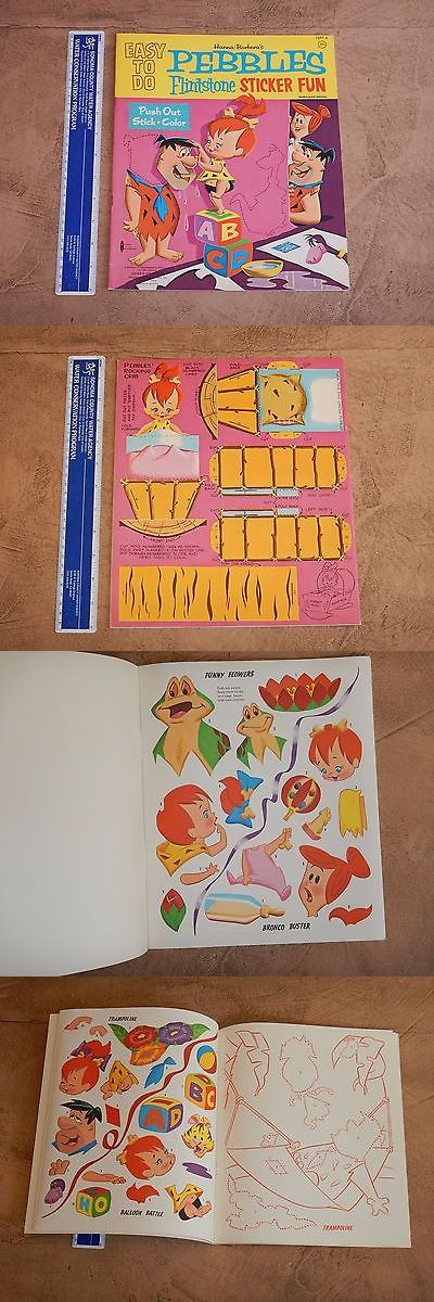 Flintstones 19225: 1963 Hanna Barbera Pebbles Flintstone Sticker Fun Book High Grade Unused -> BUY IT NOW ONLY: $149.99 on eBay!