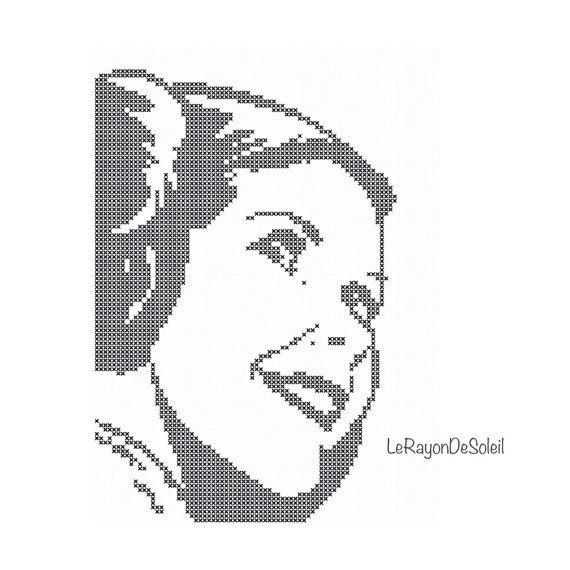Star Wars Princess Leia Portrait Modern Cross Stitch