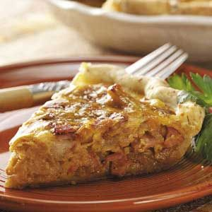 Canadian Bacon Onion Quiche. 9PP **this was so good! I loved the crust on this it uses cottage cheese! It was so flaky and tender! I was the only one who liked it. (all the more for me!)