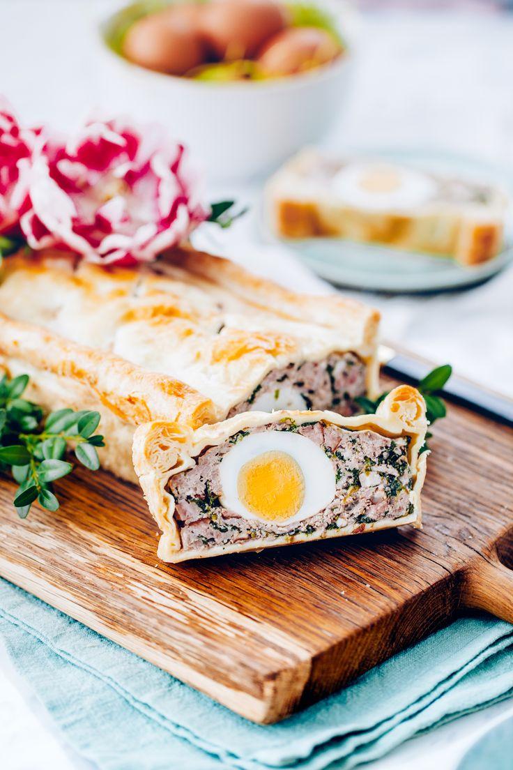 Ciasto francuskie z farszem mięsnym i jajami | Ania Starmach  Sycąca i niebanalna propozycja na urozmaicenie Twojego menu!