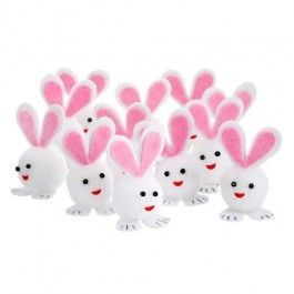 These cute bunny decorations are perfect for Easter crafting and even Easter bonnet decorations!