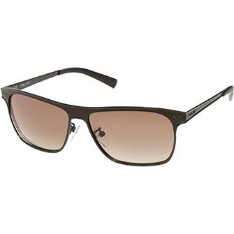Police Dark Brown Rectangle Sunglasses