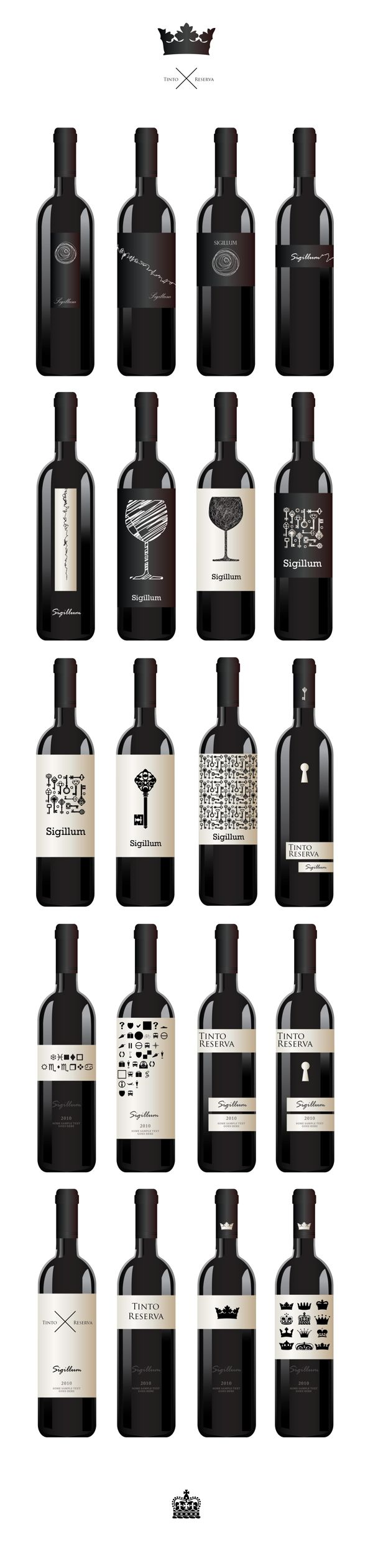 Via Behance. #wine #bottle designs.