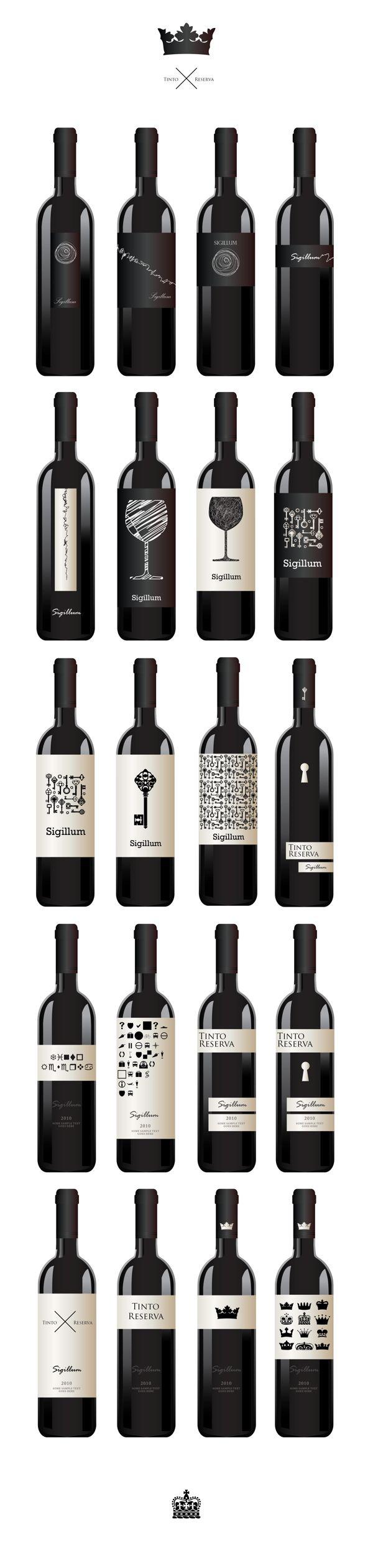 бренд Sigillum, República Portuguesa by Дмитрий Ерофеев, via Behance. A lot of great #wine #bottle designs in this one pin PD