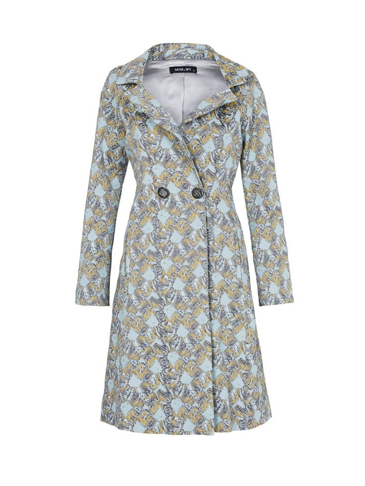 MOSS & SPY 2016 NEW WINTER COLLECTION   The Narnia COAT is a stunning statement double-breasted coat made from metallic jacquard fabric. We love how the metallic threads give it a subtle sheen and modern finish.  New at ASPIRATIONS.