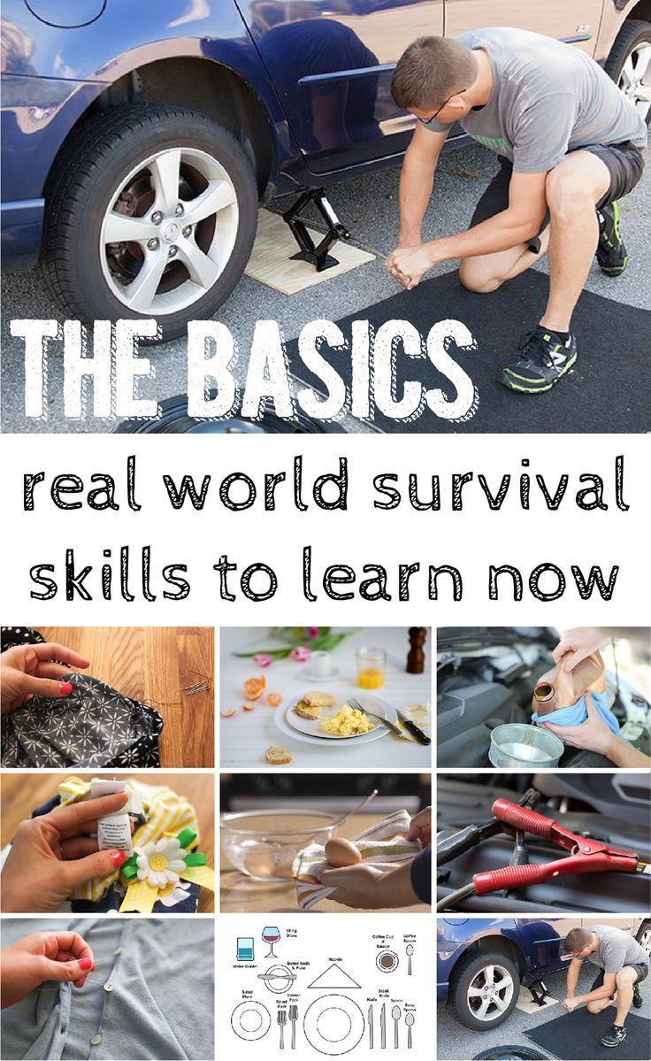 You need to know the basics!! Changing a flat tire, sewing on a button, boiling an egg - all of theses are things you need to learn to do!  www.ehow.com/...