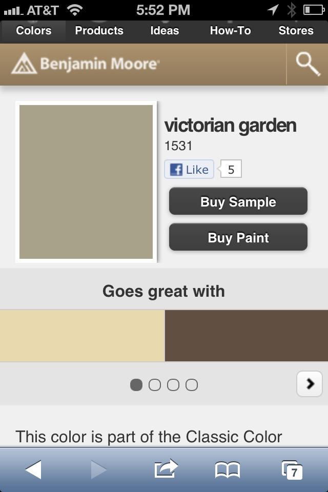 Victorian Gardens Benjamin Moore And Victorian On Pinterest