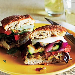 Grilled Farmers' Market Sandwiches | MyRecipes.com: Grilled Farmers, Farmers Market, Market Sandwiches, Food, Cooking Light, Veggies, Sandwiches Recipe, Sandwich Recipes, Farmers' Market