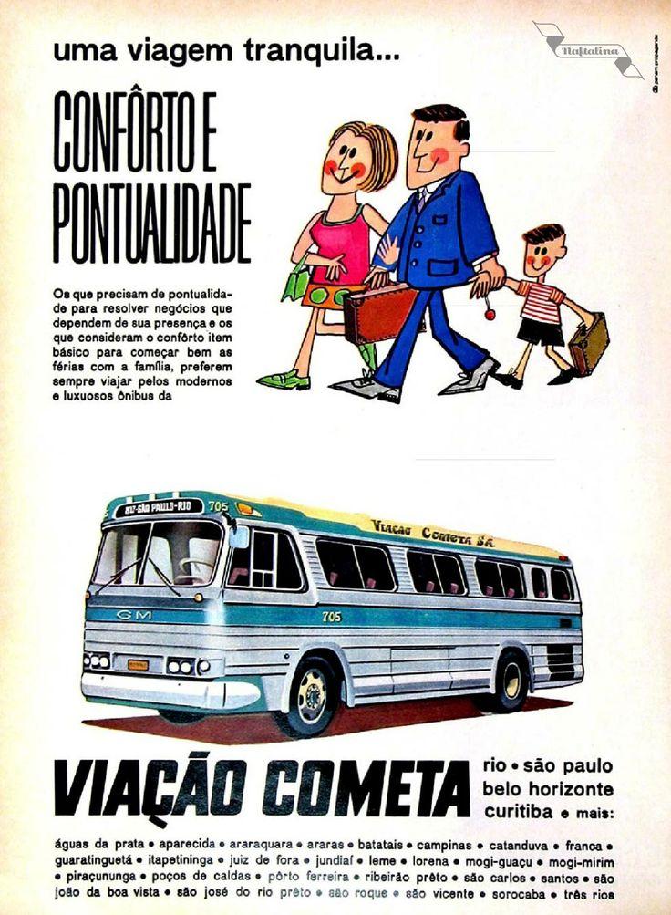 Viação Cometa, #Brasil #anos60 #retro