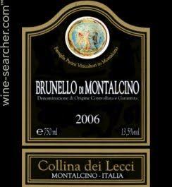 Stores and prices for '2010 La Collina dei Lecci Brunello di Montalcino DOCG, Tuscany, Italy'.  Compare prices for this wine, at 17,000+ online wine stores.
