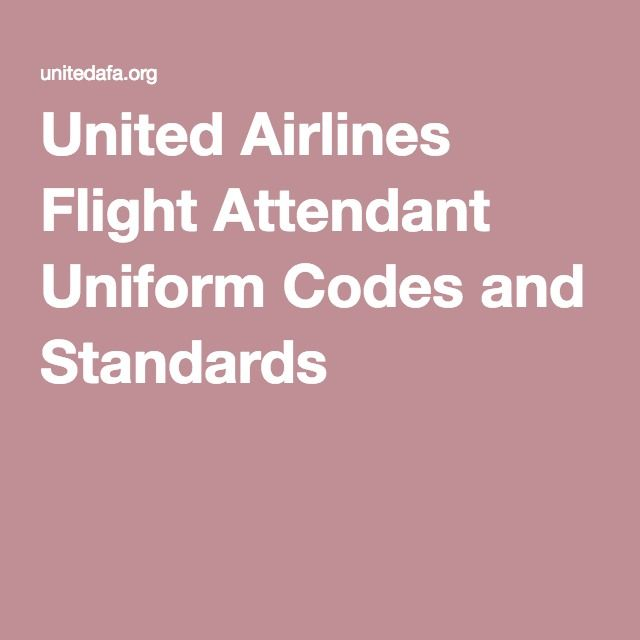 United Airlines Flight Attendant Uniform Codes and Standards