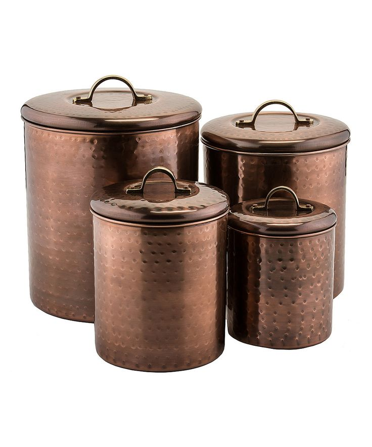 Copper canister set of four by old dutch international zulily zulilyfinds western chic - Western canisters for kitchen ...
