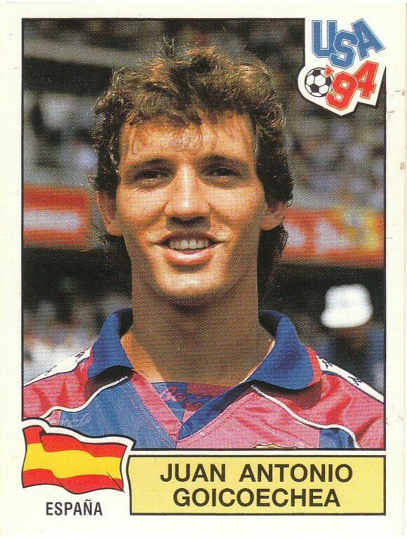 Juan Goicoechea of Spain. 1994 World Cup Finals card.